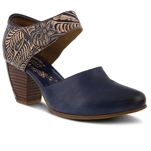 L`Artiste by Spring Step Women's Leather Mary Jane Shoe TOOLIE Blue EU Size ()