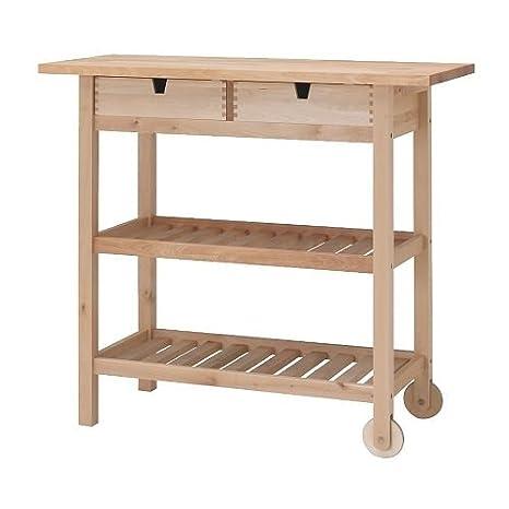 IKEA förhöja - carrito de cocina, madera de abedul - 100 x 43 cm: Amazon.es: Hogar