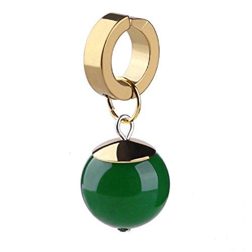 SSJ Goku Black Potalla Dragon Ball Super Zomas Cosplay Earrings (Green A)