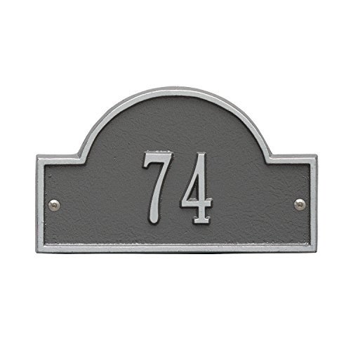 Whitehall Products Arch Marker Petite Pewter/Silver Wall 1-Line Address Plaque