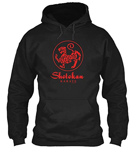 Red Tiger Shotokan Karate Design Adult Unisex Hoodie Size L - Black ()