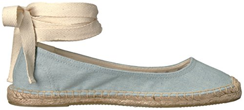 Soludos Womens Tie Up Ballet Flat Chambray