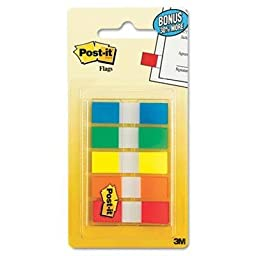 Post-It Flags - 6 Pack - Flags In Portable Dispensers Standard Colors 5 Dispensers Of 20 Flags/Color \