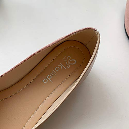 Cewtolkar Women Sandals PU Leather Shoes Roman Sandals Pointed Shoes Flat Sandals Work Shoes Soft Sandals Khaki by Cewtolkar (Image #3)