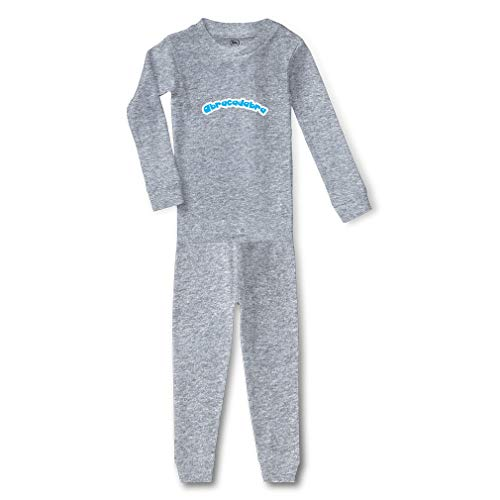 Abracadabra Cotton Crewneck Boys-Girls Infant Long Sleeve Sleepwear Pajama 2 Pcs Set Top and Pant - Oxford Gray, 2T -