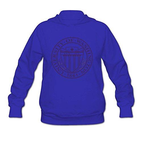 QTHOO Women's University of Washington Established 1861 Long Sleeve Hooded Sweatshirt by QTHOO