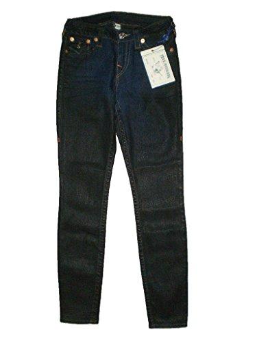 True Religion Stetch Denim Black Coated Legging Flap Pocket Jeans New $262 (28 X 29)