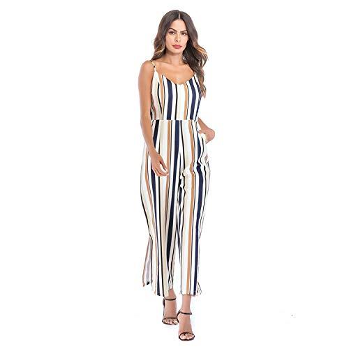 Mujer Suelta Picture De Ropa Stripe Mono color Verano JKJHAH Sling De fUTxqS