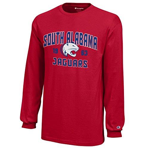 NCAA Champion Boy's Long Sleeve Jersey T-Shirt South Alabama Jaguars Medium