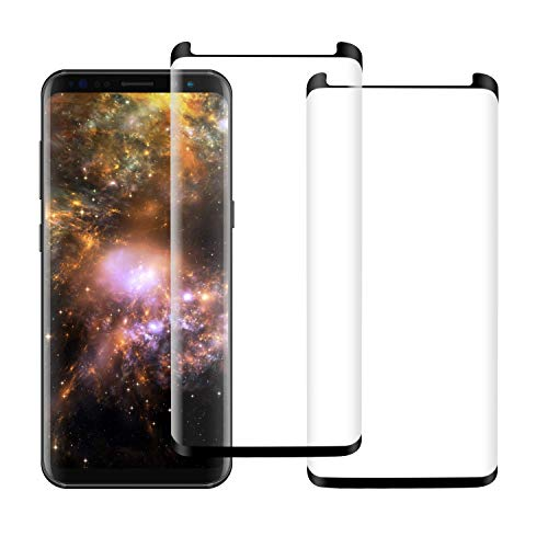 [2 Pack] Galaxy Note 8 Screen Protector Tempered Glass [Anti-Bubble][3D Full Coverage][9H Hardness][HD Clear][Anti-Scratch] Compatible Samsung Galaxy Note 8