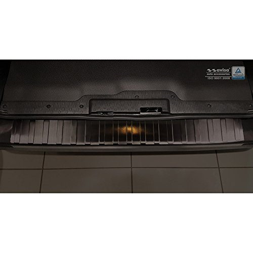 Auto Style 2//45067 Black Stainless Steel Rear Bumper Protector Vivaro /& Trafic 2014-// Talento 2016-Ribs