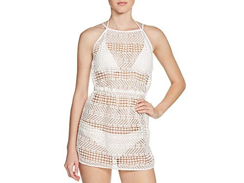 Milly Cabana - Milly Cabana Womens Crochet Tie Back Dress Swim Cover-Up White S