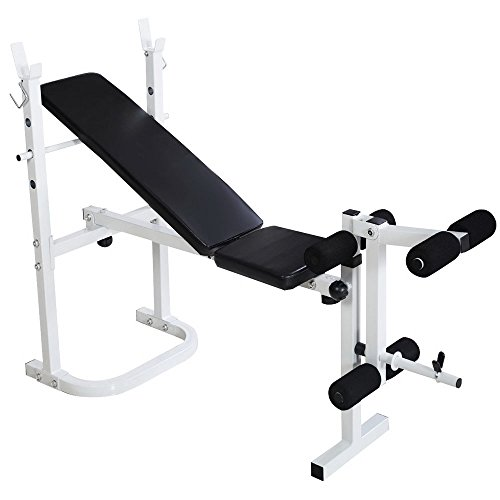 Bonnlo Adjustable Folding Weight Lifting Flat Incline Weight Bench … (Style 2) For Sale