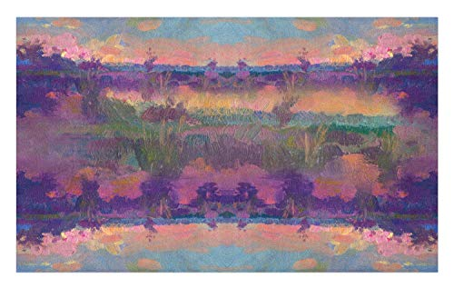 (GugeABCmat Bath Carpet,American Ranch Landscape with Cowboy Clothes Wilderness,Custom Door Mats 47