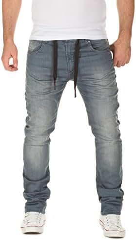 WOTEGA Men's Sweatpants in Jeans-Look Noah Slim
