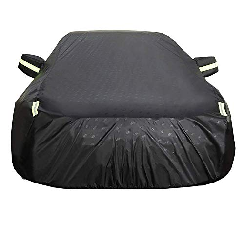 JYCZ Waterproof Car Cover Waterproof All Weather,Suitable for Hyundai I30 Fastback (Color : Black, Size : Standard Edition)