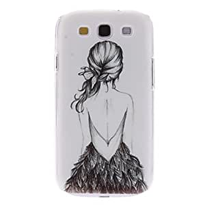 TOPQQ ships in 48 hours sold out Girl in Backless Dress Pattern Hard Case for Samsung Galaxy S3 I9300