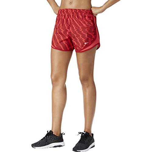 (Nike Womens Mesh Inset Dri-Fit Shorts Red S)