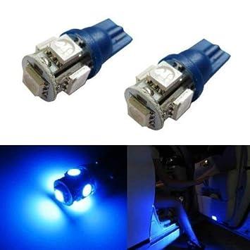 ijdmtoy 5-smd-5050 168 194 2825 bombillas LED para luces de coche luces de cortesía de la puerta lateral o pies, Ultra azul: Amazon.es: Coche y moto