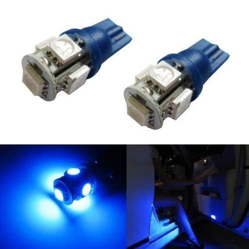 iJDMTOY 5-SMD-5050 168 194 2825 LED Bulbs For Car Side Door Courtesy Lights or Foot Area Lights, Ultra Blue ()