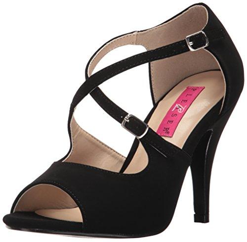 Pleaser Pink Label Women Dre412/Bnb Dress Sandal, Black Nubuck Black nubuck