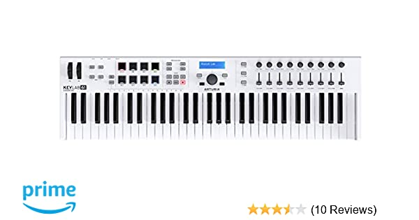 Amazon.com: Arturia KeyLab Essential 61 Universal MIDI Controller and Software (White): Musical Instruments