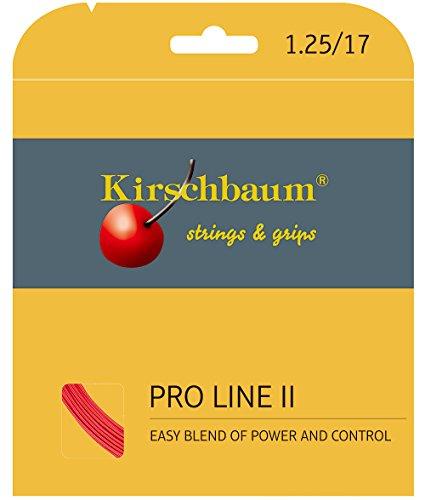 Kirschbaum Pro Line 2 Garniture Tennisschlägersaiten tennis rot rot 1,25 mm x 12 m