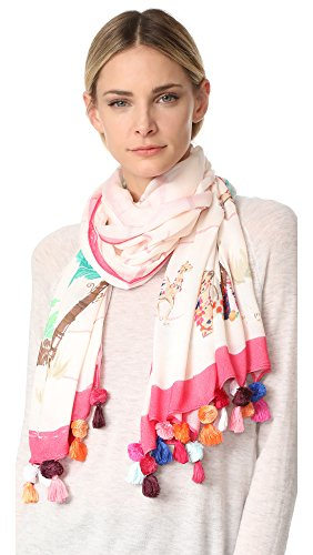 Kate Spade New York Women's Desert Oblong Scarf, Pink Sand, One Size by Kate Spade New York