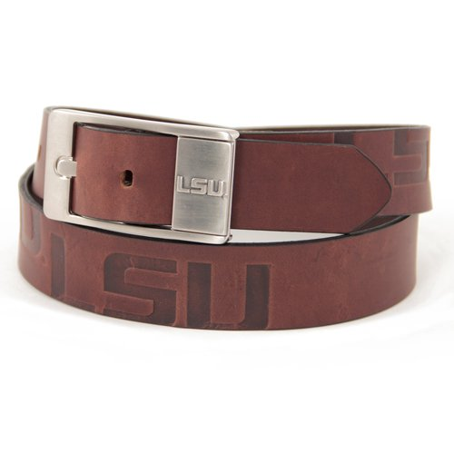 Brown LSU Tigers Branded Leather Belt (32)