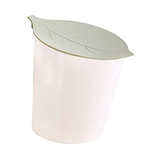 Cubo de basura para mesa con tapa abatible, pequeño cubo de basura ...