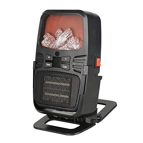 Cheap Electric Fireplace Heater Layopo Mini Personal Heater for Office Desk with Remote Control 18 Level Temp Adjustable PTC Space Heater for Home Indoor Use Overheat & Tip-Over Protection Timer & Hanger Black Friday & Cyber Monday 2019