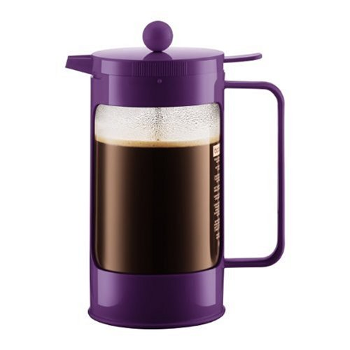 Buy Bodum Bean French Press Coffeemaker with Locking Lever Lid, 8-Cup (34-Ounce), Purple (online)