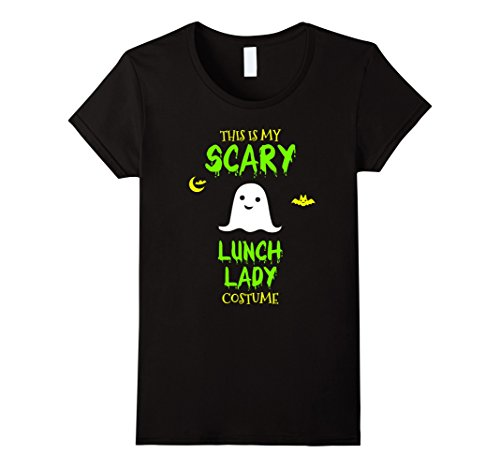 Womens Scary Lunch Lady Costume Halloween T-Shirt XL (Ladies Scary Halloween Costumes)