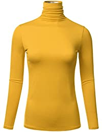 Womens Long Sleeve Lightweight Turtleneck Top Pullover...