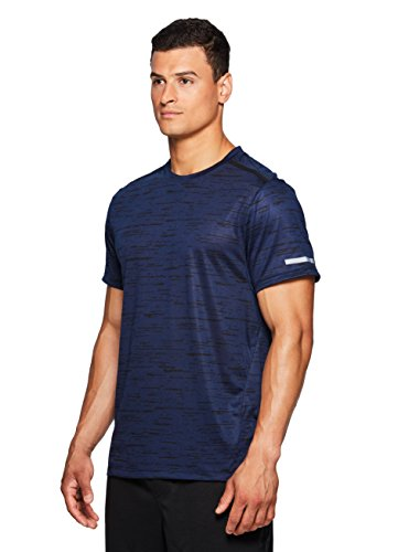Stripe Squiggle - RBX Active Men's Printed Squiggle Stripe S/S Crew Neck Tee New Navy M