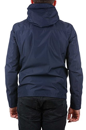 Uomo Blu Woolrich Cappotto melton 3989 Blue x75H0nwHqR