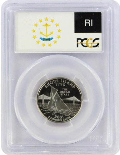 2001 Rhode Island State S Clad Proof Quarter PR-69 PCGS