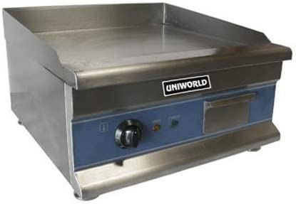 "UniWorld 20"" Stainless Steel Electric Griddle"