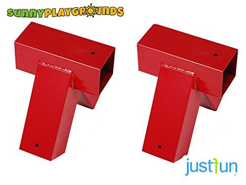 Set of TWO 90 Degrees Metal A-frame Swing Bracket 4x4 RED