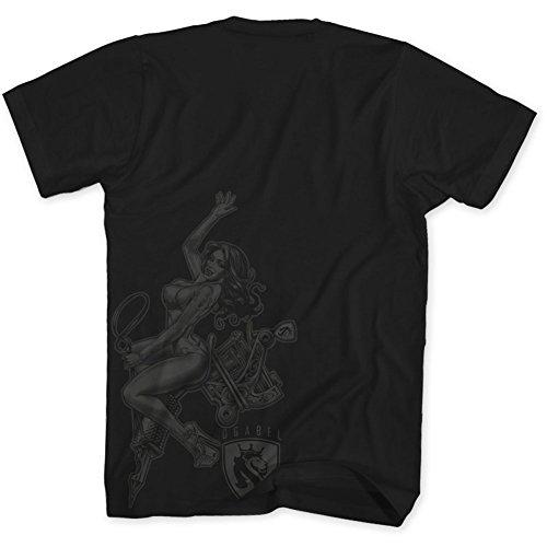OGABEL Men's Tattoo Rider SS T Shirt Black