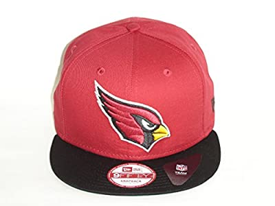New Era NFL Arizona Cardinals Logo 2 Tone Cardinal Black Snapback Cap 9fifty NewEra