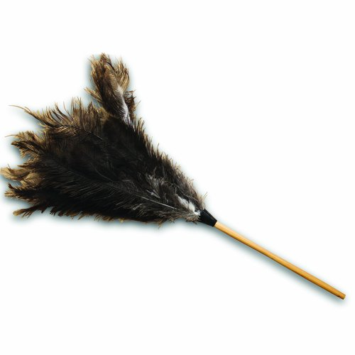 Impact 4604 34-Inch Brown and Gray Economy Ostrich Feather Duster (Case of 12) Economy Ostrich Feather Duster