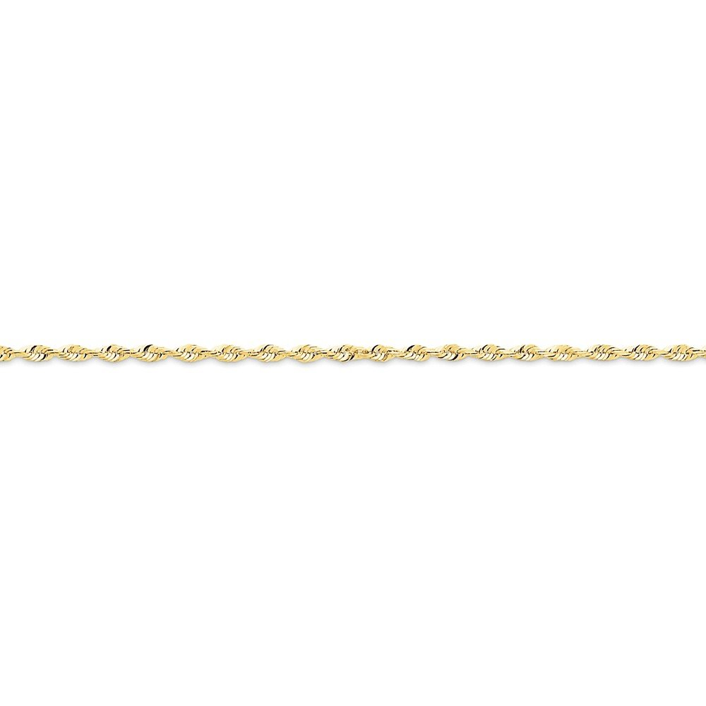 Top 10 Jewelry Gift 10k 2.0mm D/C Extra-Lite Rope Chain