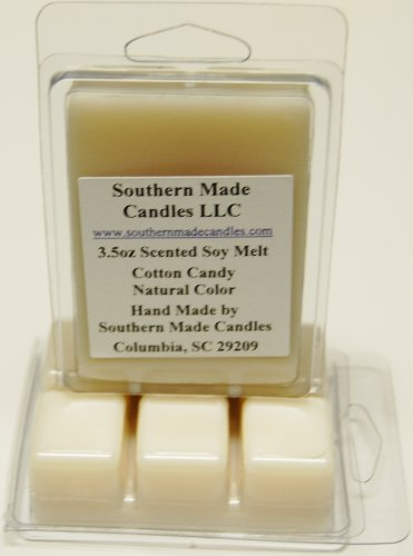 3 Pack 3.5 oz Scented Soy Wax Candle Melts Tarts - Cotton Candy]()