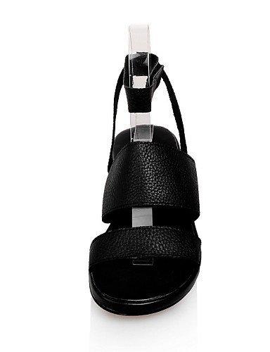White Open Dress Casual Heel Shoes Toe White Sandals Flat ShangYi Outdoor Women's Black HBI6nqB7