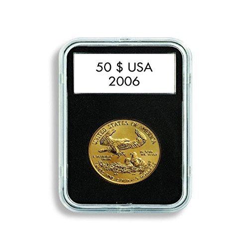 (5) Lighthouse Quickslab 32mm Coin Capsule Re-closable Slab for 1oz Gold Eagle Kangaroo Krugerrand