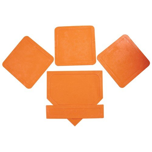 Orange Throw Down Bases (5 Piece) (Whiffle Ball)