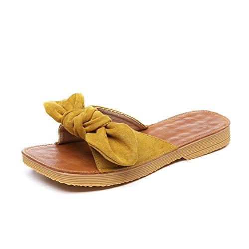 moda Pajarita A sandalias Zapatillas verano de damas de 06I7Utn7