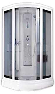 box doccia idromassaggio 90x90 con cromoterapia mambo