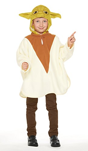 Star Wars Yoda Poncho Kids child costume unisex Length
